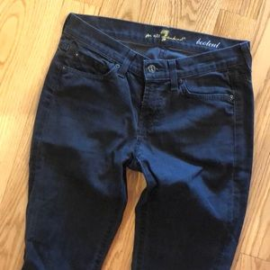 7 for all Mankind Black Boot it Jeans